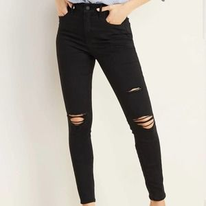 OLD NAVY High Rise Rockstar Distressed Jean 12 NWT